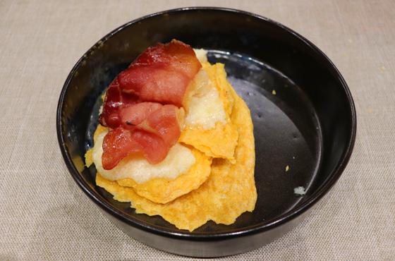 Croste-di-polenta-con formaggio filante e bacon croccante TerraRossa Caneva