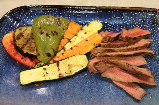tagliata di manzo con verdure