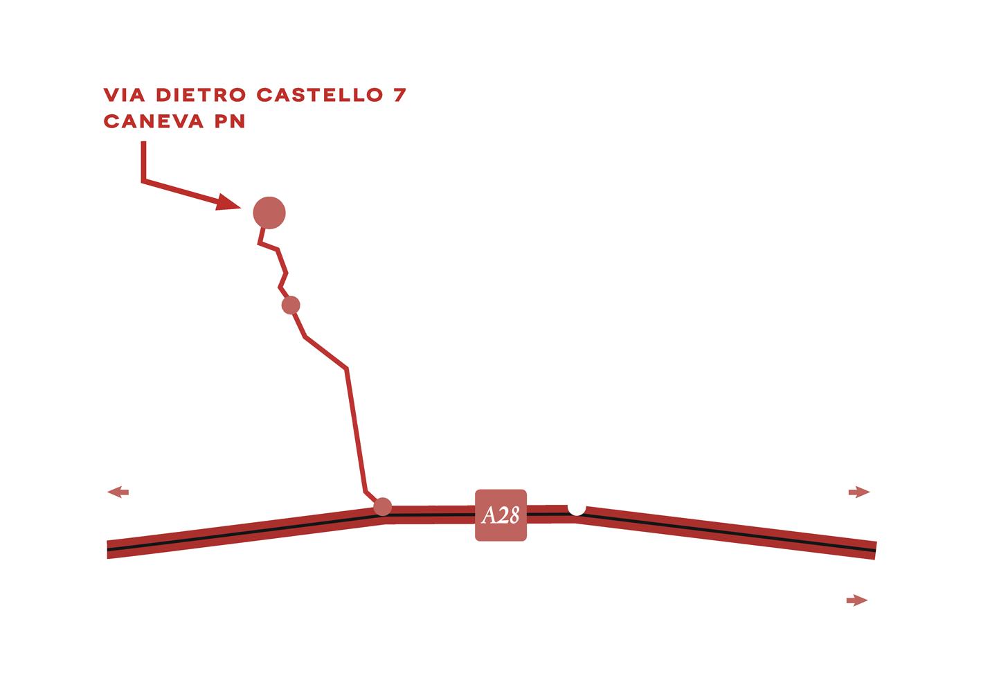 cartina agriturismo TerraRossa Caneva