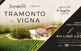 Tramonto in Vigna TerraRossa Caneva dj Lino Lodi